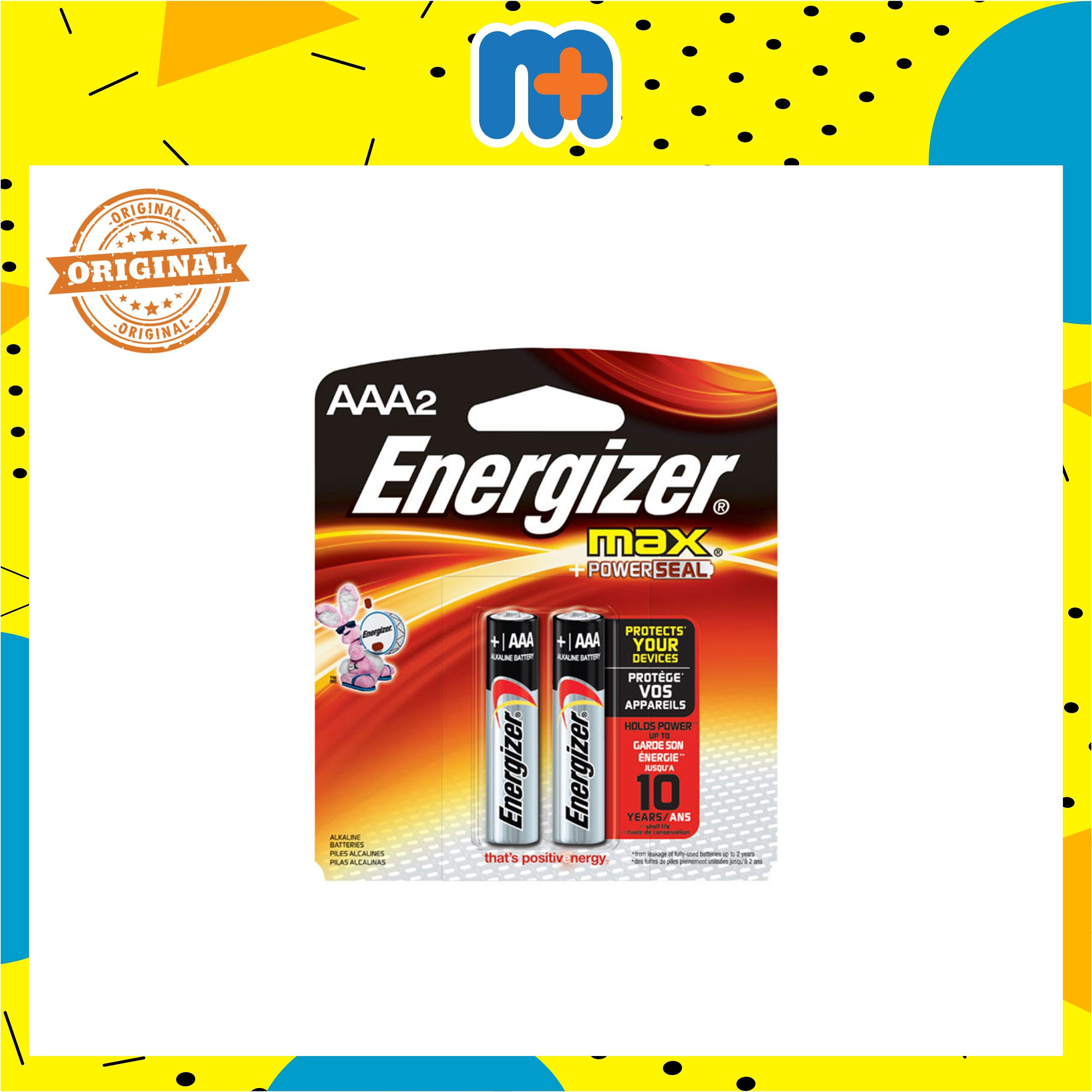 [MPLUS] ENERGIZER MAX BATTERY AAA 2S