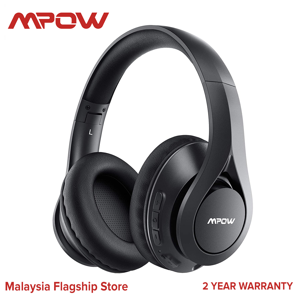 [ NEW ARRIVAL ] Mpow 059 Lite Bluetooth Headphones, Wireless Headphones Over Ear with Microphone, Bluetooth 5.0, HiFi Stereo Sound, Protein Earpads, Wired Wireless Headset