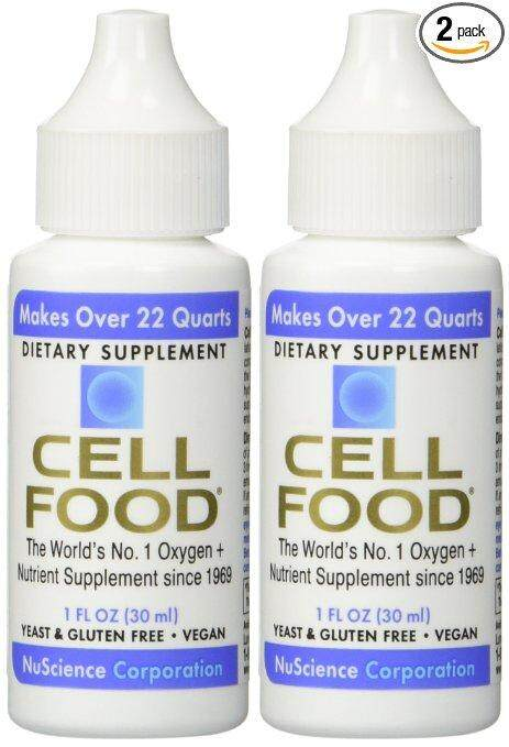 Cellfood Nuscience Oxygen Supplement - 2 Bottles Complete with box and catalog.0122083222