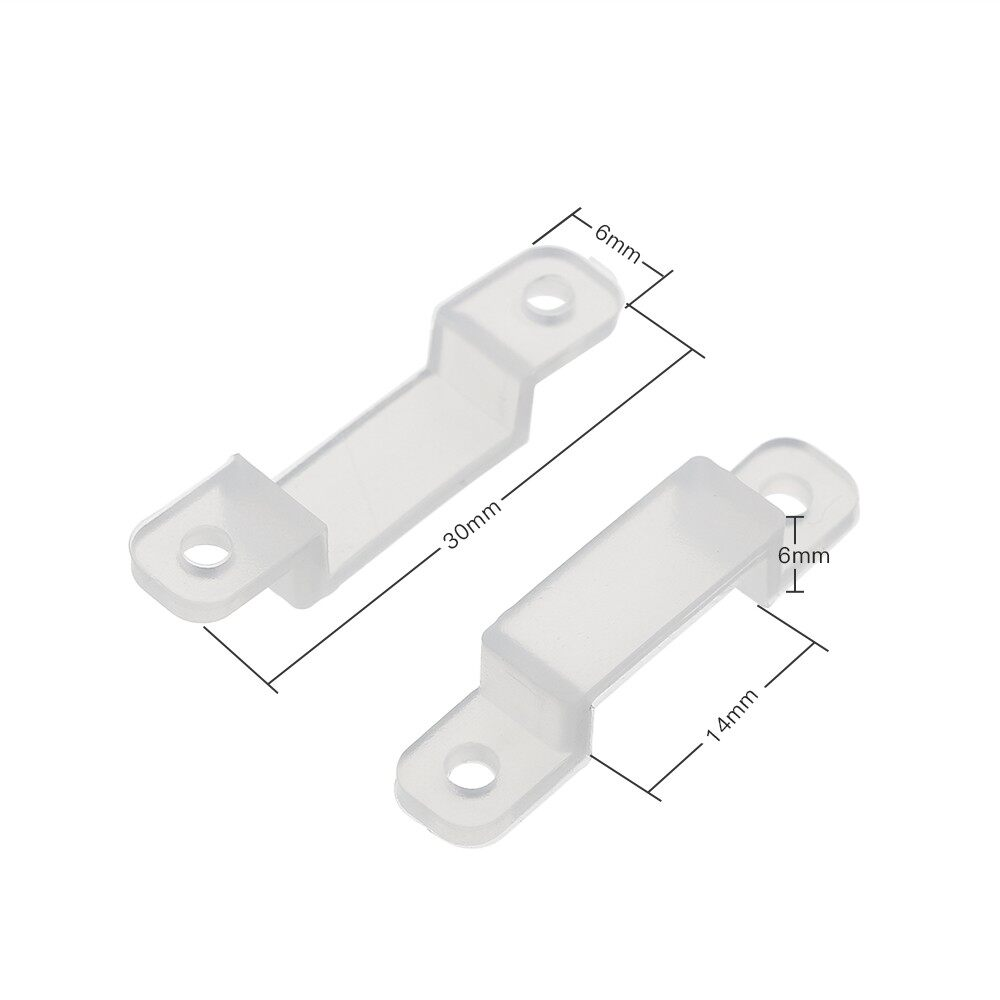 Specialty Lighting - Translucent Fastener Clips Flexible Mounting Fixer for Fixing LED Strip Lights - #2 / #1