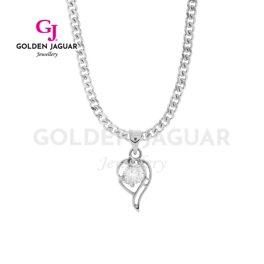 [Combo Set] GJ Jewellery Emas Korea Zirkon Papan Pasir Kikir Necklace + Papan Bracelet - Combo Rantai Gelang Tangan Set 24K Platinum Plated