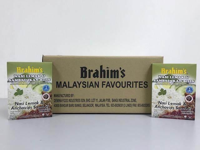 Brahim's Nasi Lemak Sambal Ikan Bilis 1 Karton (Nasi Lemak & Anchovies Sambal)
