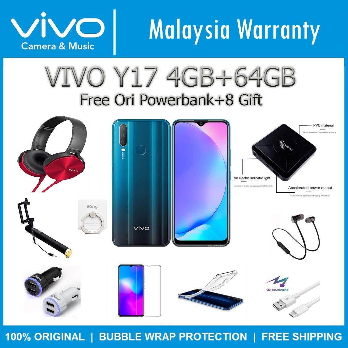 (FREE GIFT) VIVO Y17 (4GB RAM+64GB ROM) 100% Original Vivo Malaysia Set