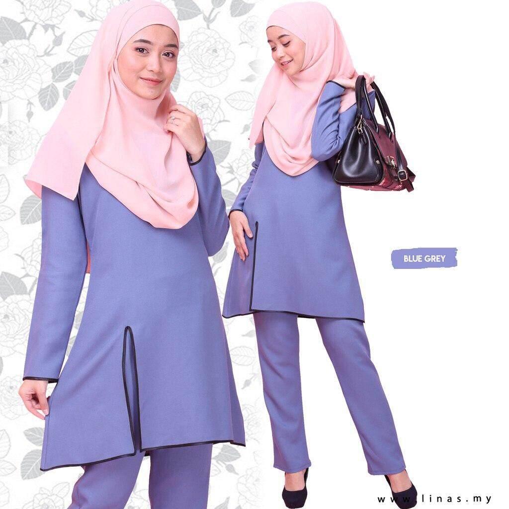 Suit HAIRA by LINAS FASHION for Office Wear / Casual Wear / Seluar Muslimah / Set Baju Seluar / Set Wardah / Umrah / Gamis