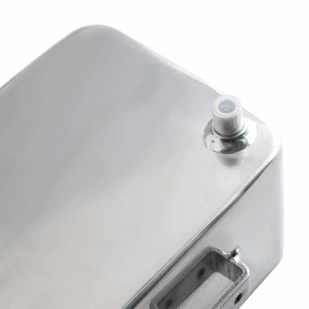 Best Selling Universal 2L Aluminium Water Coolant Header Overflow Expansion Recovery Tank for Car Repair Maintenance (Silver)