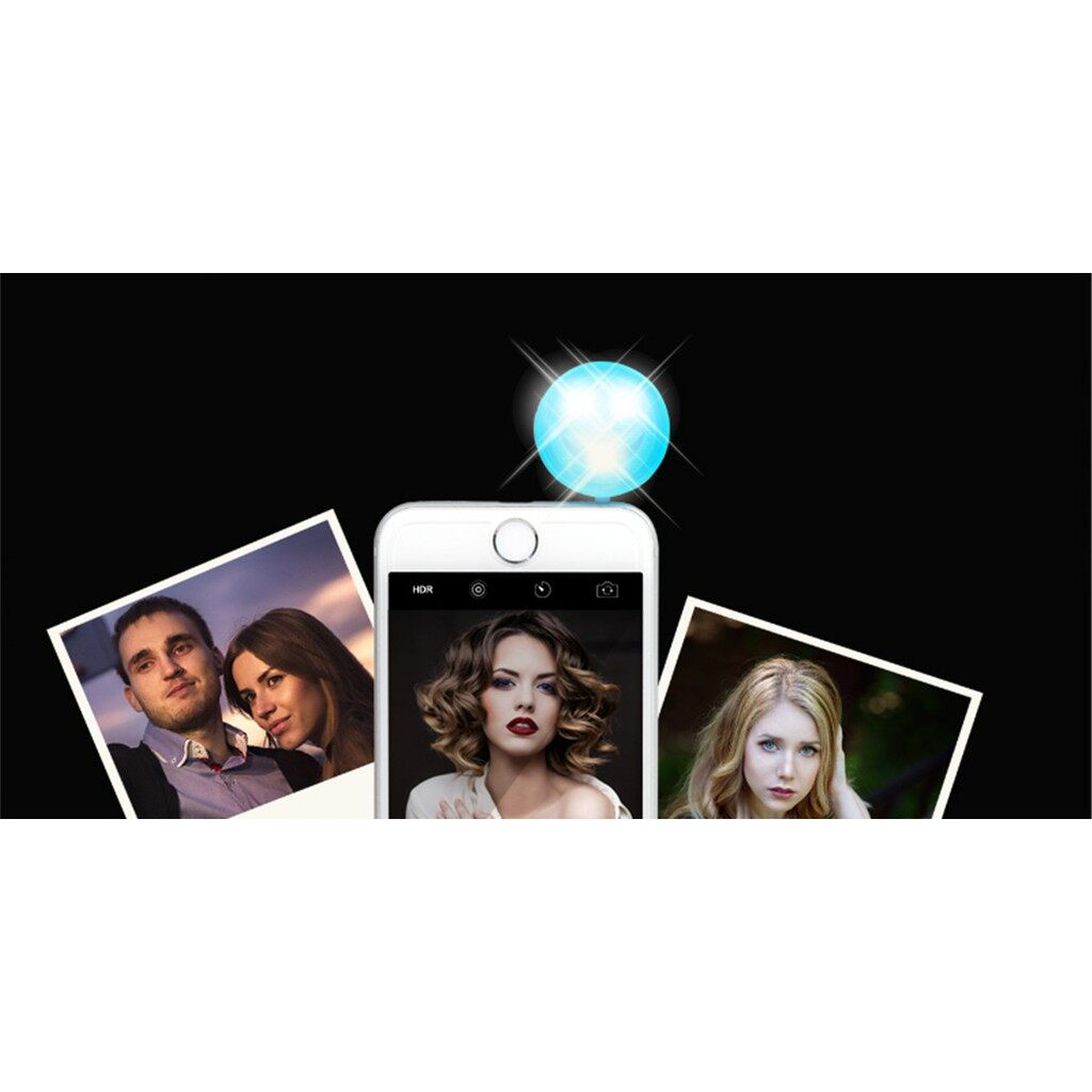 USB Light - 4-in-1 Cold-Warm 3 LED Light Smiling Face Flash+ 3 Covers In Different Color/ SET - BLACK / WHITE / RED / BLUE / PINK