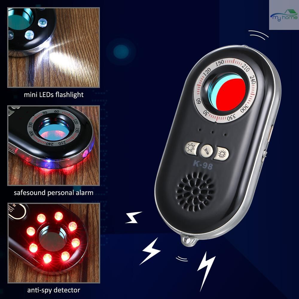 Protective Clothing & Equipment - PORTABLE Anti-spy Hidden Camera Detector WIRELESS RF Infrared 3-in-1 Safesound Vibration Alert with - GOLD / PINK / BLACK