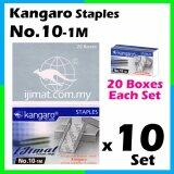 10 Set Stapler Bullet Kangaro Staple Staples No.10 / Kangaro NO.10-1m Size normal Stapler Bullet / Dawai Kokot / Ubat Stapler (20boxes Each Set) I JIMAT