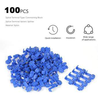 100PCS Blue Scotch Lock 16-14 AWG Connectors Electrical Wire Cable Insulated Quick Splice Crimp