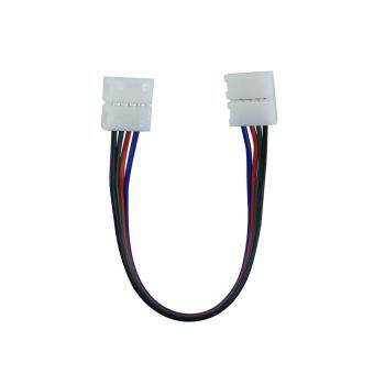 10pcs/lot 10mm 4pin RGB Connector Wire Double Jack Wire For 5050RGB LED Strip