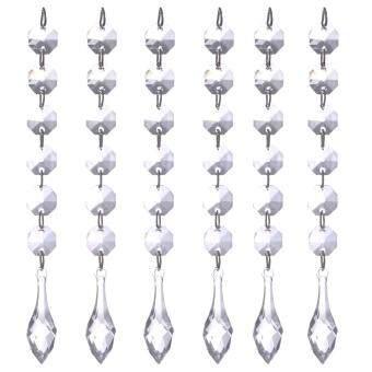 12pcs Crystal Bead Curtain Beads Pendant Wedding Hanging Curtain Home Decor