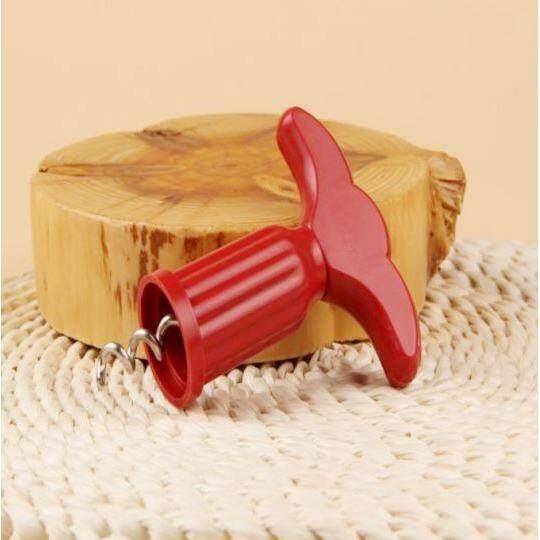 Random Color Portable Kitchen Bar Plastic Wine Bottle Opener Plug Device Champagne Grape Metal Drill Corkscrew Tools