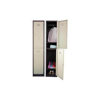 Harga 2 COMPARTMENTS STEEL LOCKER - L.Grey