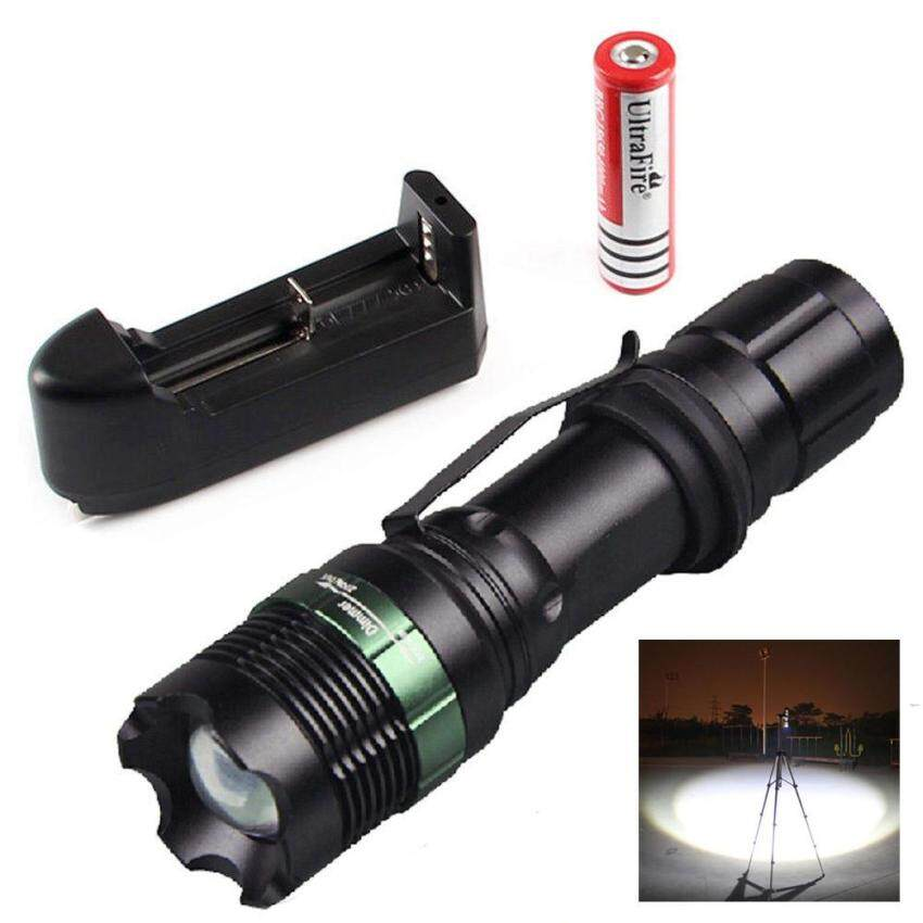 Harga 2500LM CREE XM-L T6 LED Flashlight Torch Zoomable Lamp Light +Charger+ Battery