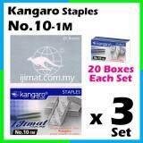 3 Set Stapler Bullet Kangaro Staple Staples No.10 / Kangaro NO.10-1m Size normal Stapler Bullet / Dawai Kokot / Ubat Stapler (20boxes Each Set) I JIMAT