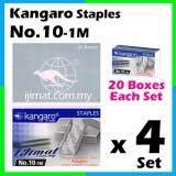 4 Set Stapler Bullet Kangaro Staple Staples No.10 / Kangaro NO.10-1m Size normal Stapler Bullet / Dawai Kokot / Ubat Stapler (20boxes Each Set) I JIMAT