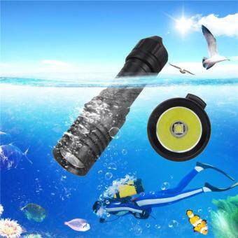 Harga 5000LM XM-L2 LED Scuba Diving Flashlight Torch 18650 LightUnderwater 100m Black