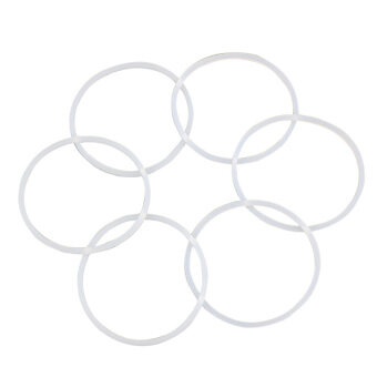6Pcs Replacement Gaskets Rubber Seal Ring For Magic BulletFlat/Cross Blade New