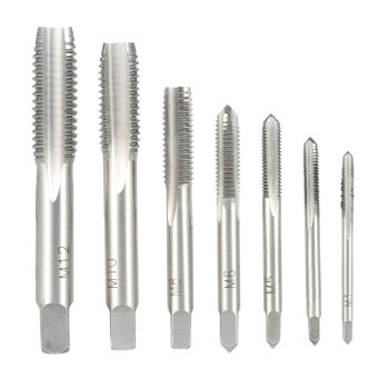 Harga 7PCS/Set High Hardness M3-M12 Metric Straight Fluted Screw ThreadTaps Bearing Steel Screw Tap Set for Hand Use M3 M4 M5 M6 M8 M10M12