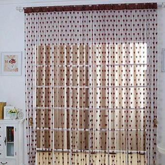 Ainest Drop Beaded String Door Window Curtain Divider Tassel FlyScreen Room Blind Coffee