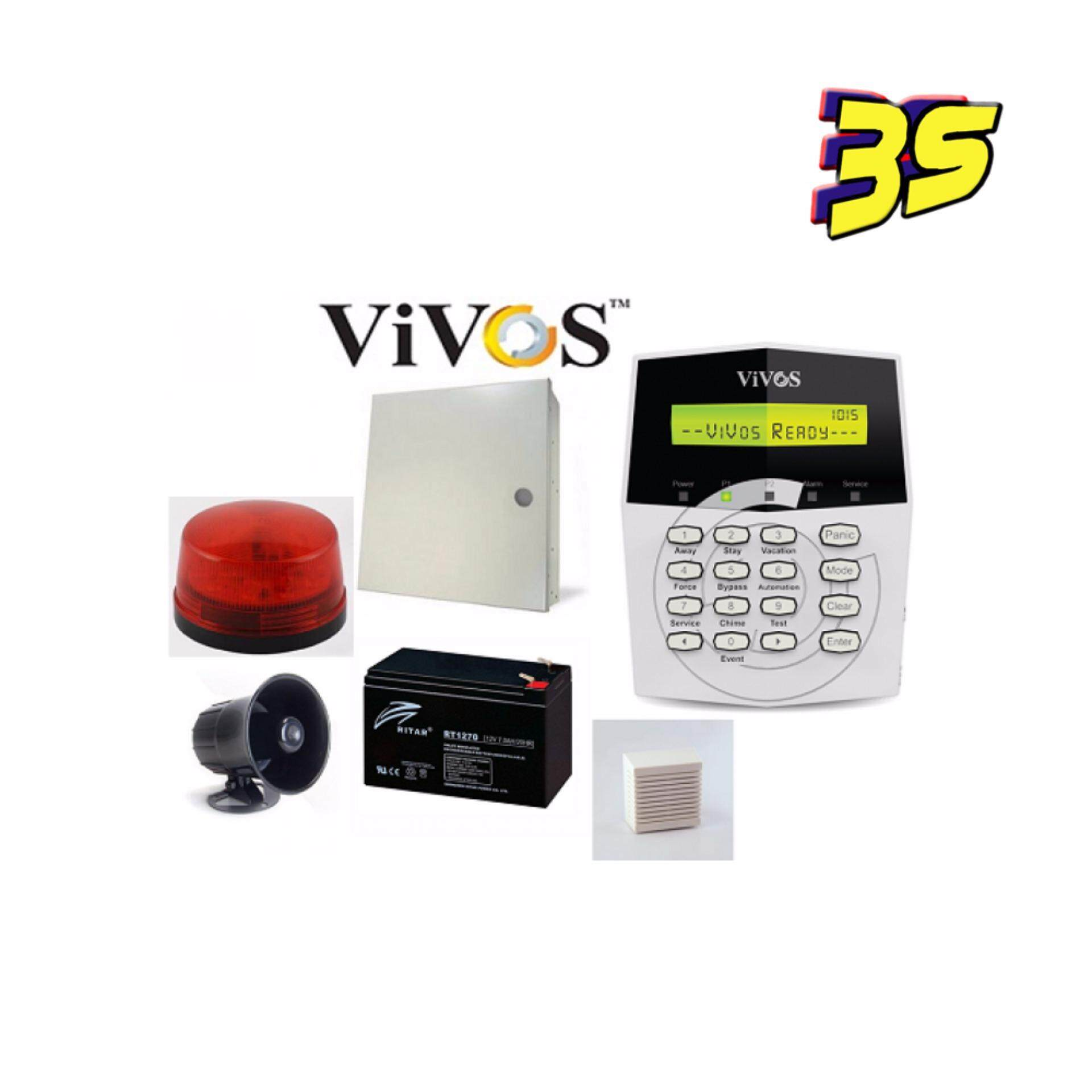 Alarm System Vivos G1-10Zones Packages