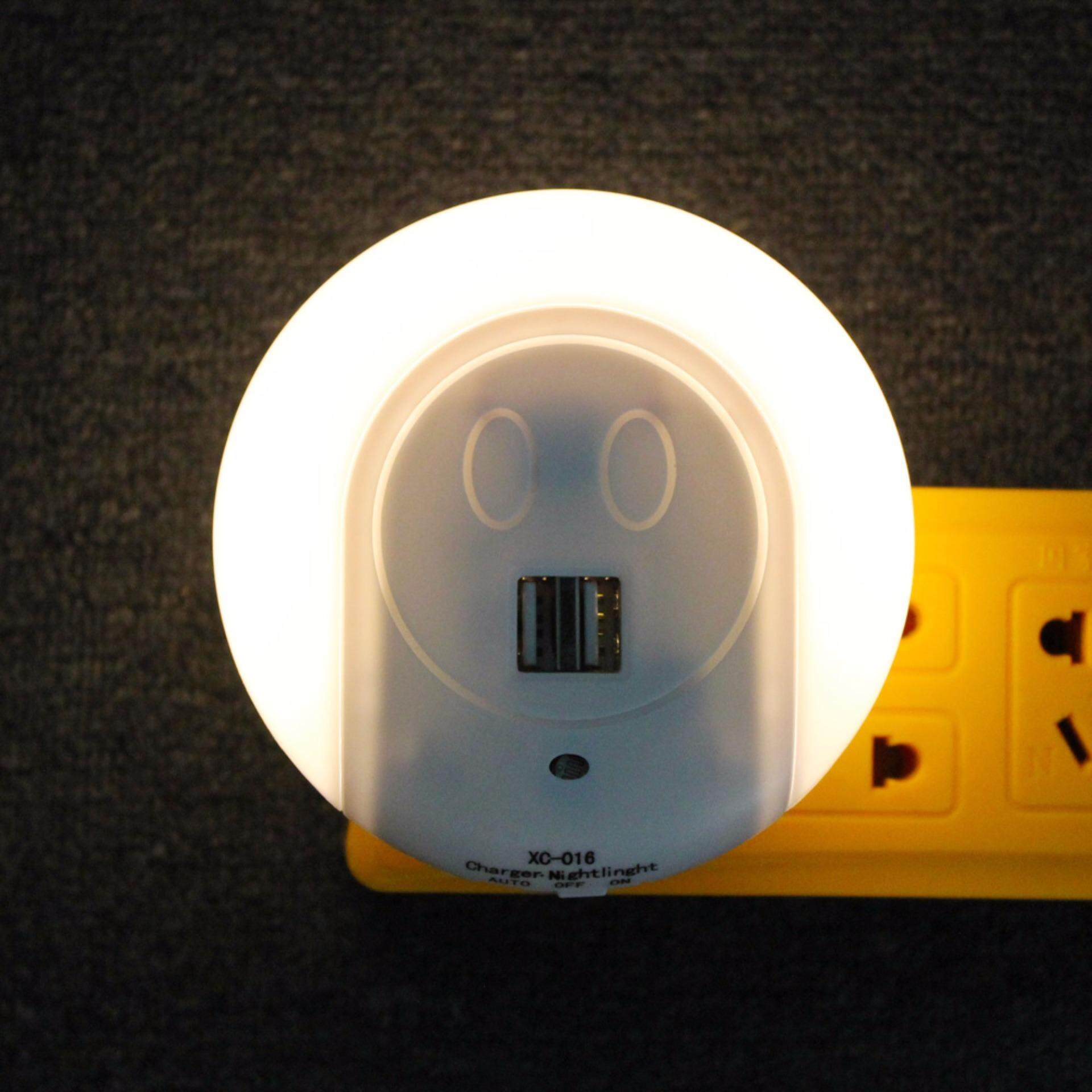 ANBLUB Light-Controlled Night Light Sensor with Dual USB Charge Ports For Kitchen Bedroom Baby