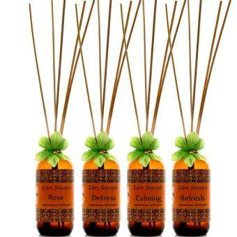 Zensuous Aroma Reed  Diffuser set of 4 bottles with reed sticks