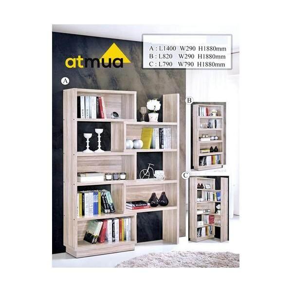 Atmua Canta Adjustable Book Case Divider Adjustable Size Free Style Design (3 Design) Cabinet Buku