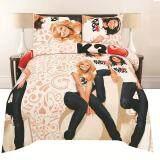 BASIC: 3-Pcs Set:- Sup-Single- Fitted Sheet Set- 330 TC: 100% Cotton Rich (Basic-383)