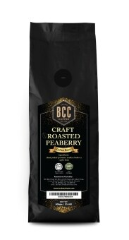 BCC Craft Roasted Peaberry Coffee Bean 500gm + FREE 2 packs of DripCoffee