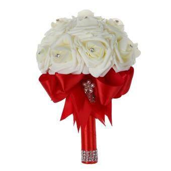 Beautiful Wedding Bouquet Bridal Bridesmaid Flower wedding bouquet artificial flower rose bouquet white bridal bouquets-