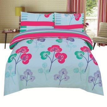 Harga BED CLUB: Queen 100% Cotton Rich Fitted Sheet Set- 330 TC:(BC-352-Q)