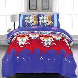 BED CLUB: Single Fitted Sheet Set - 100% Cotton Rich: 330 TC:- (Basic-901)