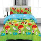 BED CLUB: Single Fitted Sheet Set - 100% Cotton Rich: 330 TC:- (Basic-907)