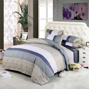 Bedding Set 3pcs/4pcs Queen/Full/Twin Size stripe printingComforter Bed Linen Set Bed Sheet/Duvet Cover/pillow cases