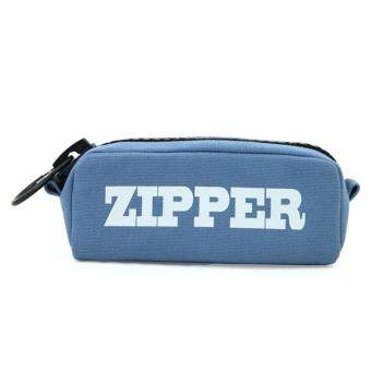 Big zipper pencil bag Canvas Cases school pencil case Stationery Storage bag pencilcase school supplies Office supplies Blue