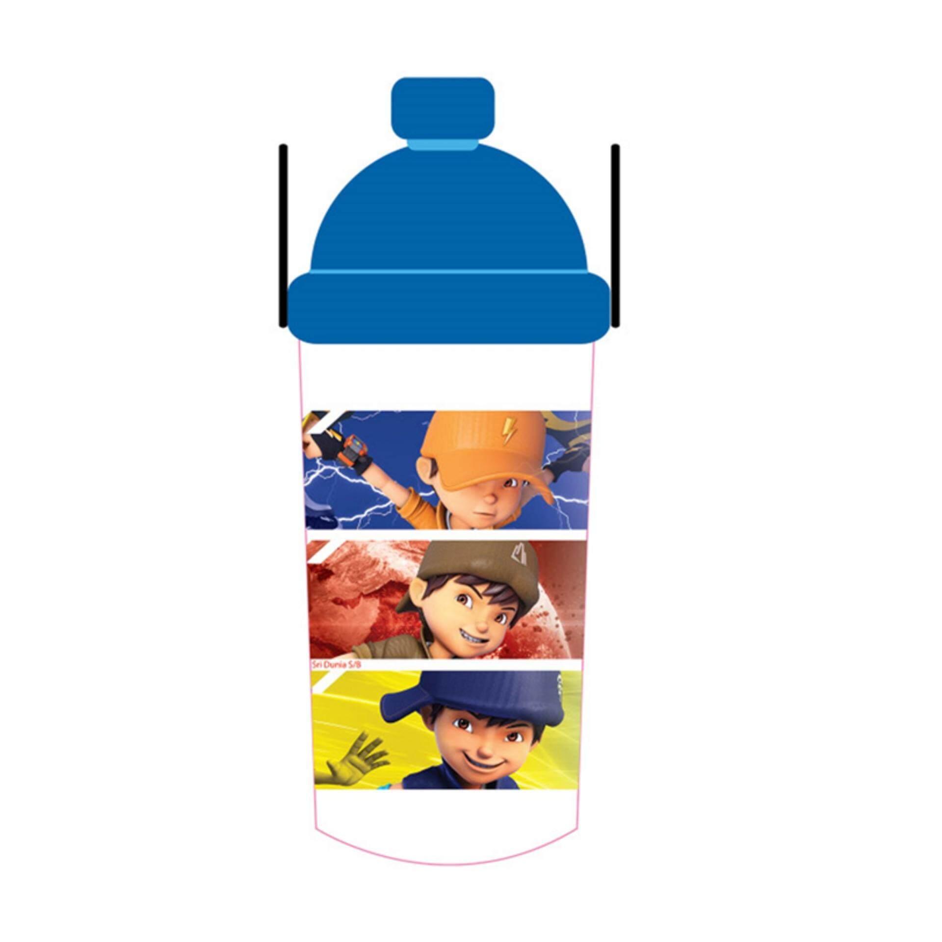BoBoiBoy Galaxy 350ML Water Bottle - Blue Colour