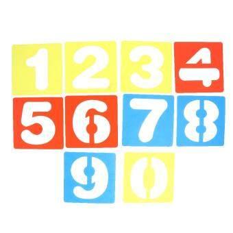 BolehDeals 10pcs Arabic Numbers 0-9 Drawing Template Stencils Ruler for Kids Children Crafts