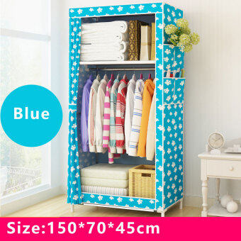 BYL Curtain Wardrobe Cabinet Steel Rack Wardrobe popheko ...
