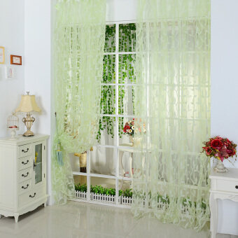 ... 100200cm Tulips Printing Tulle Curtains Sheer Floral Balcony Drape Source Chic Leaf Type Tulle Door