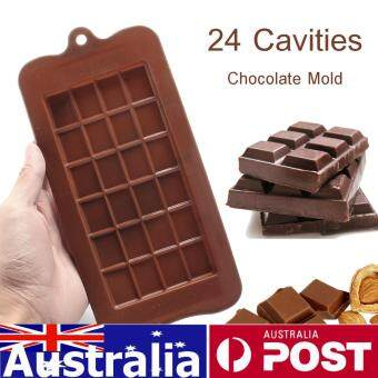 Chocolate Candy Sugar Mold Mould Bar Block Ice Tray Silicone Cake Bake Mold