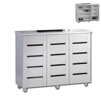 CKE314 Shoe Cabinet - White