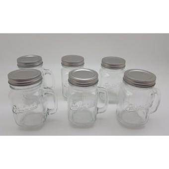 Clear Glass Drinking Mason Jars with Lids (Set of 6)