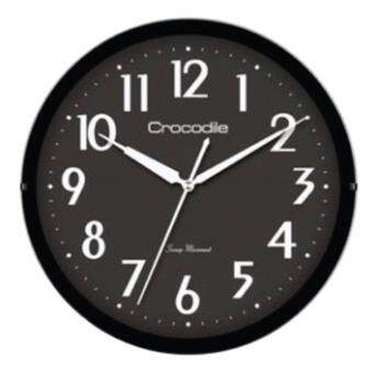 Harga Crocodile 100% Authentic -Japan Quartz sweep seconds movement standard office wall clock *28.6 x 4 black dial round shape model CW1842