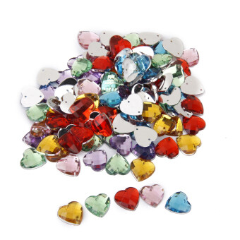 Crystal Heart Sewing Button Decoration Diy Crafts 14mm 100pieces Mixed Color