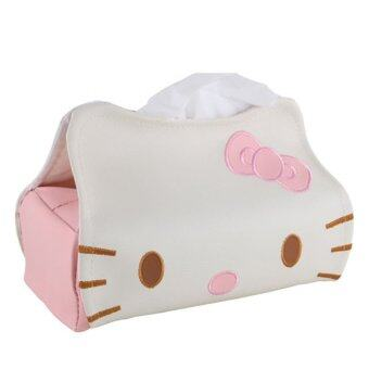 Harga Cute Cat PU Tissue Box