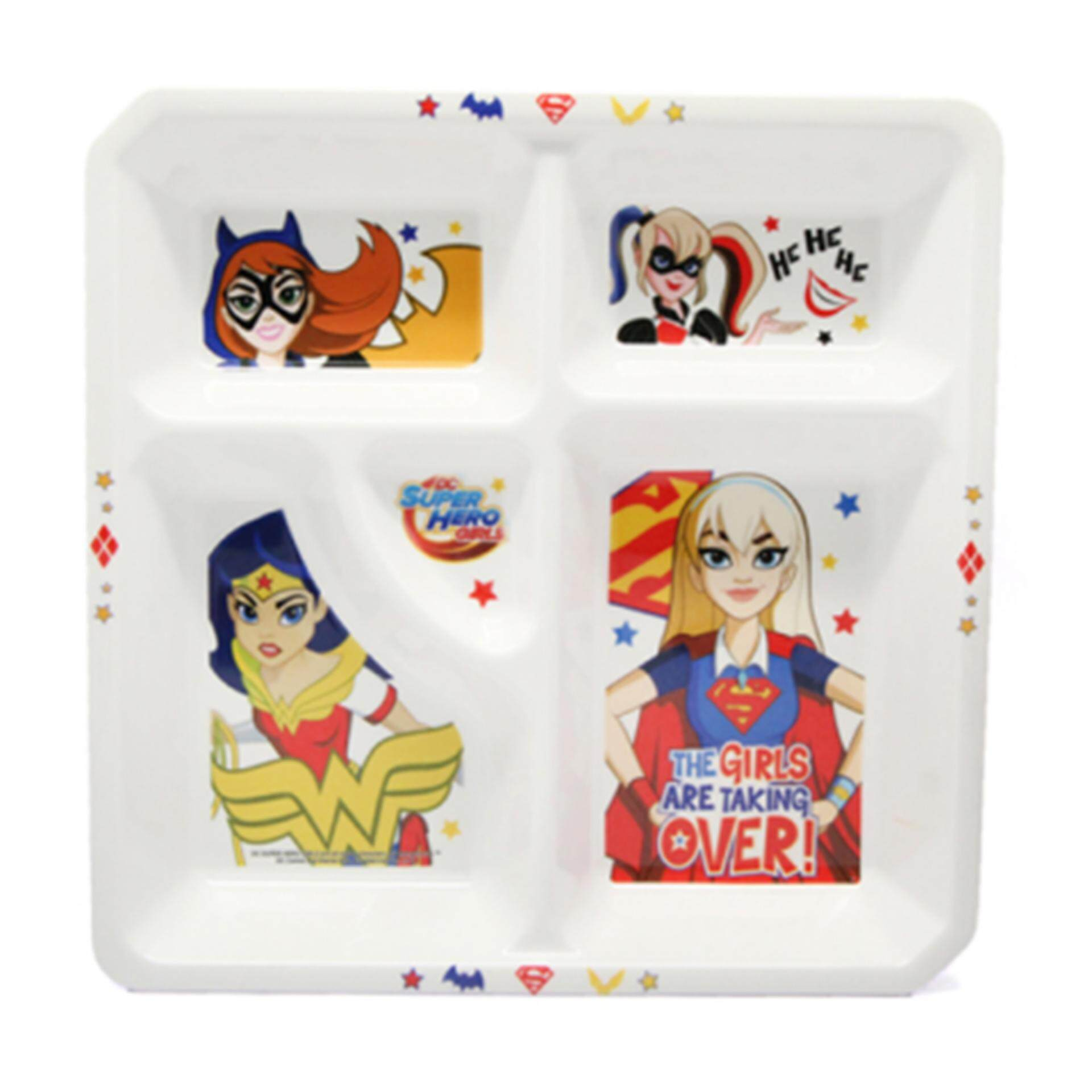 DC Comics Super Hero Girls Divided Plate - White Colour