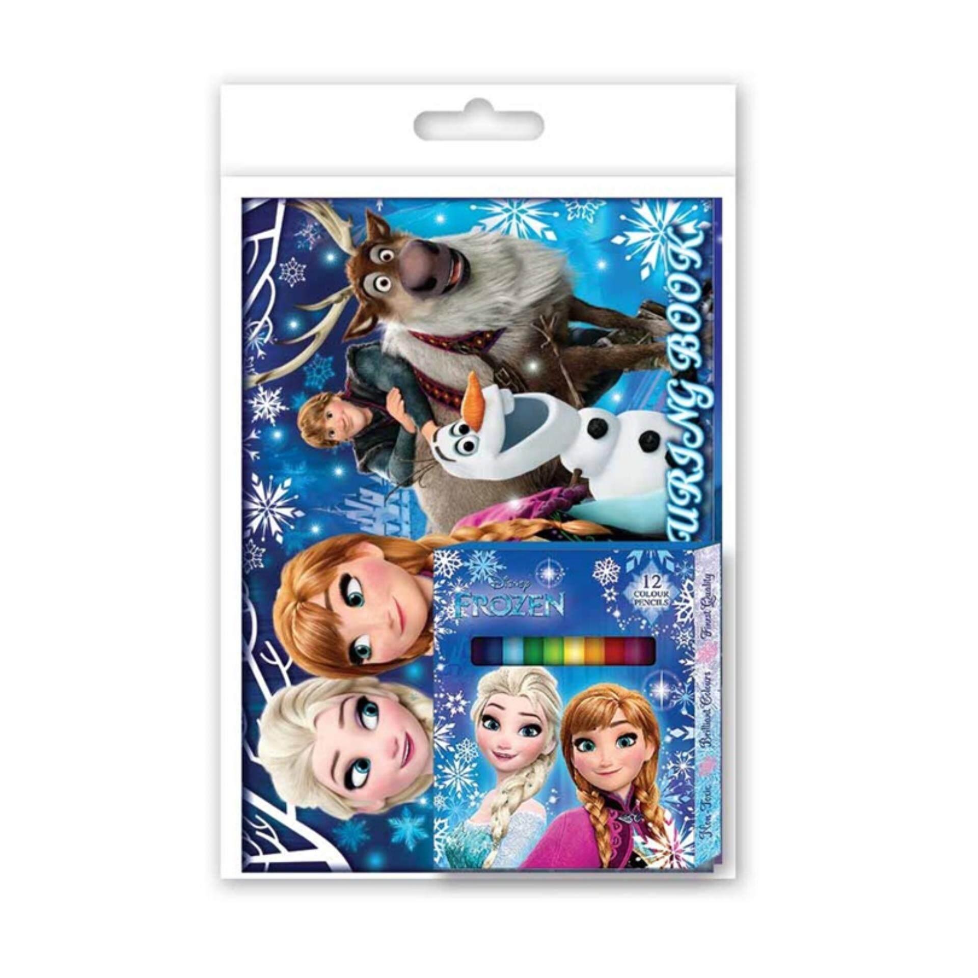 Disney Princess Frozen Activity & Colouring With Sticker - Blue Colour