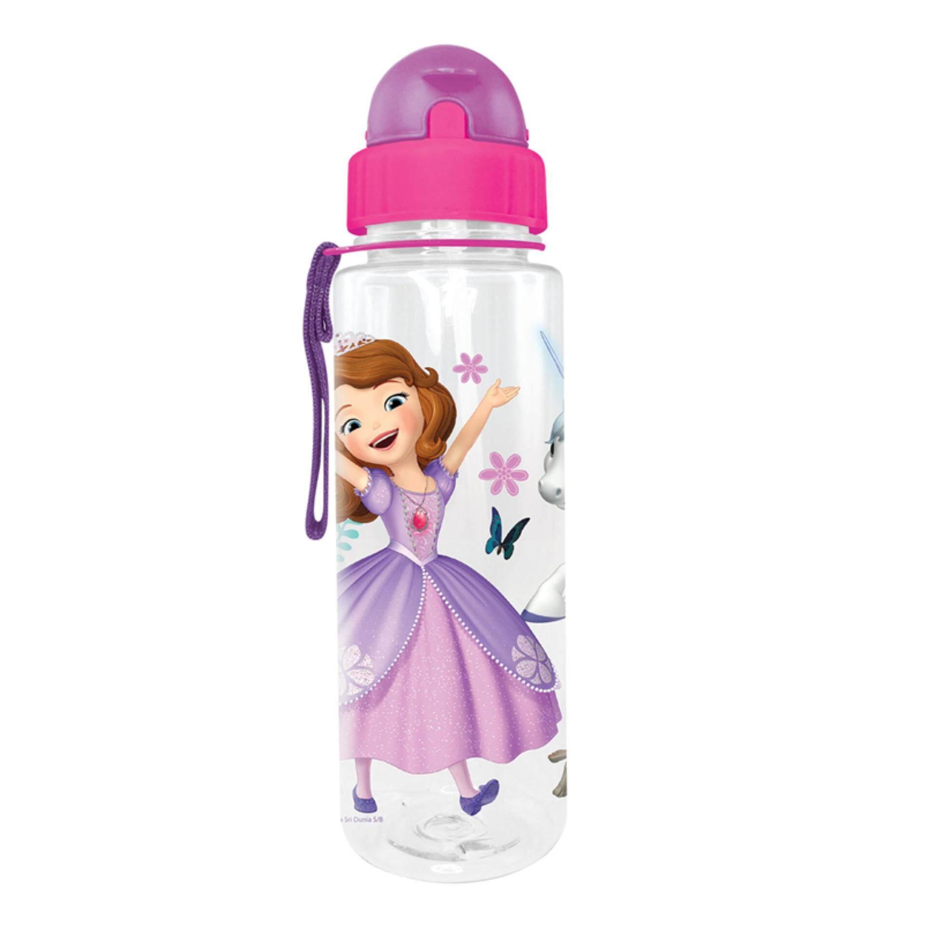 Disney Princess Sofia 650ML Tritan Bottle With Straw - Dark Pink Colour