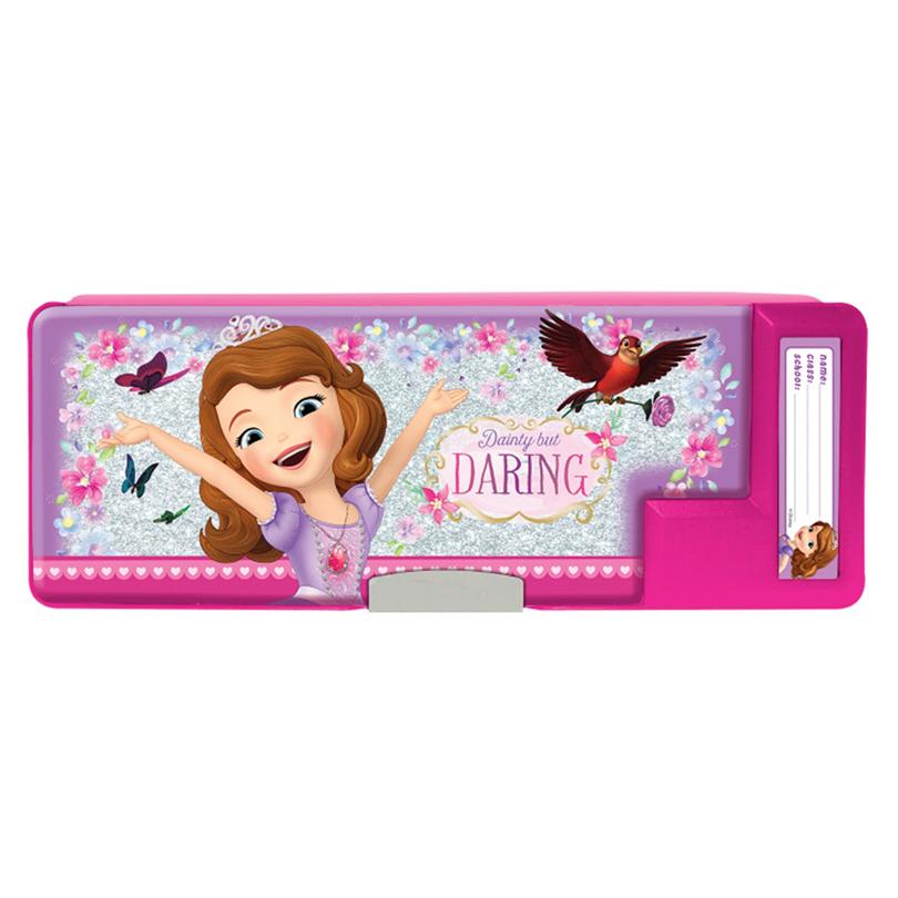 Disney Princess Sofia Magnetic Pencil Case - Pink Purple Colour